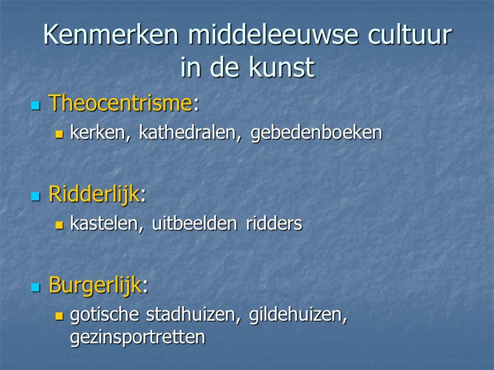 Kenmerken middeleeuwse cultuur in de kunst