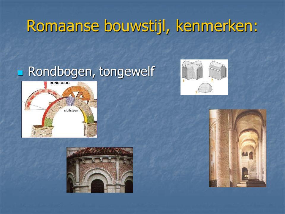 Romaanse bouwstijl, kenmerken: