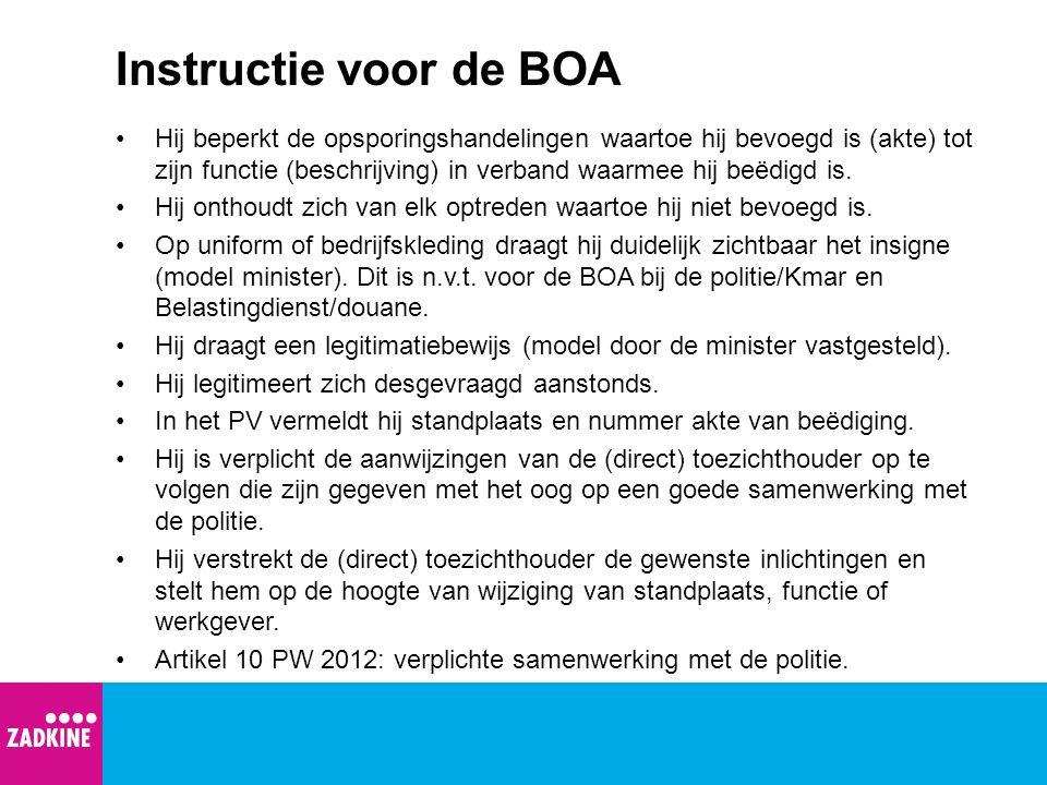 Instructie voor de BOA