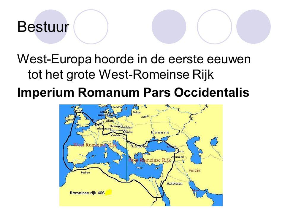 Bestuur West-Europa hoorde in de eerste eeuwen tot het grote West-Romeinse Rijk.