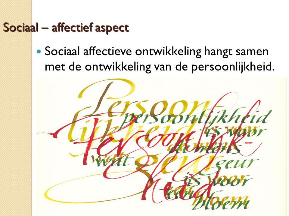 Sociaal – affectief aspect