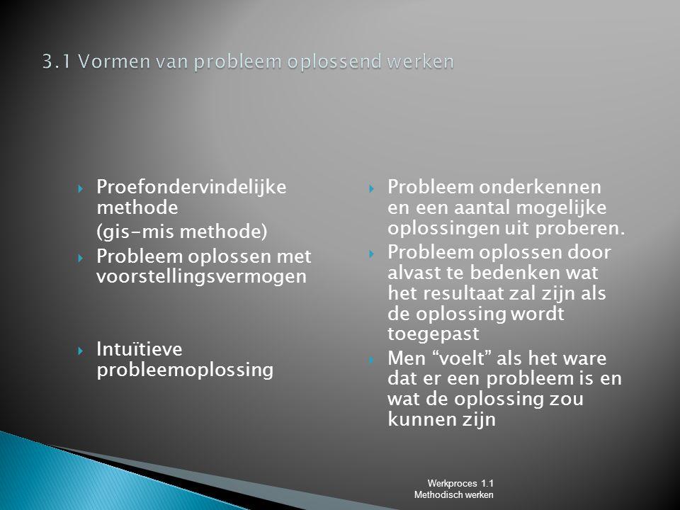 3.1 Vormen van probleem oplossend werken