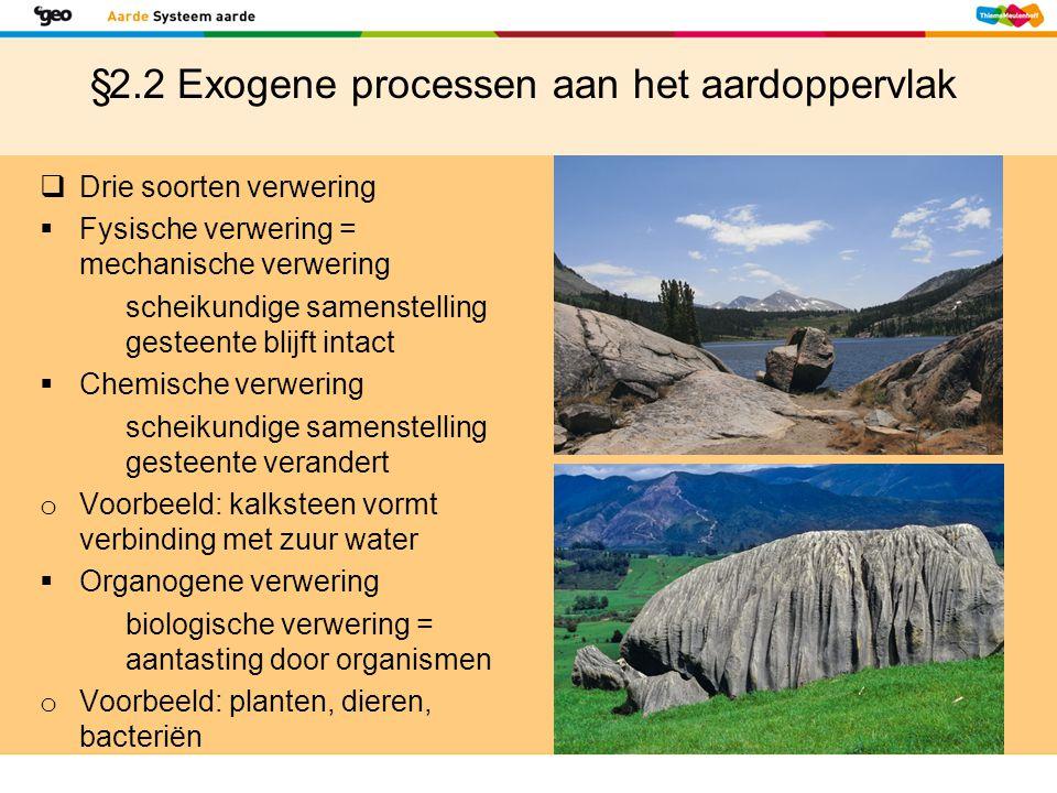 §2.2 Exogene processen aan het aardoppervlak