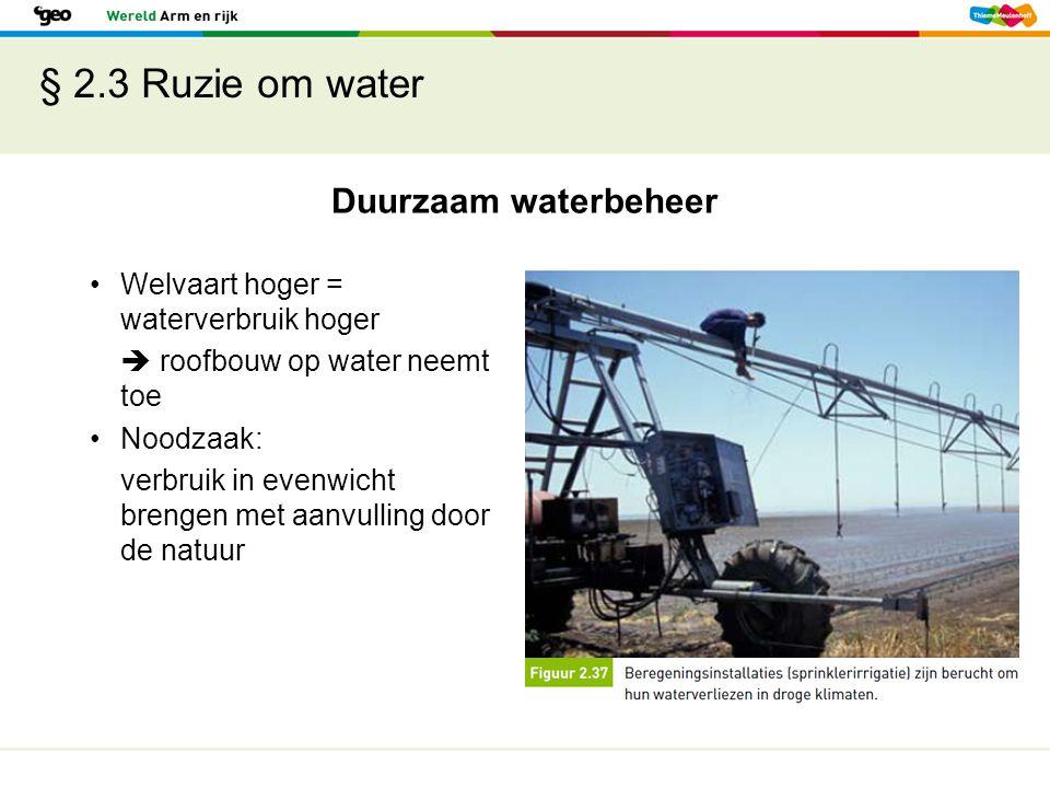 § 2.3 Ruzie om water Duurzaam waterbeheer
