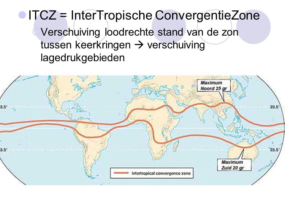 ITCZ = InterTropische ConvergentieZone
