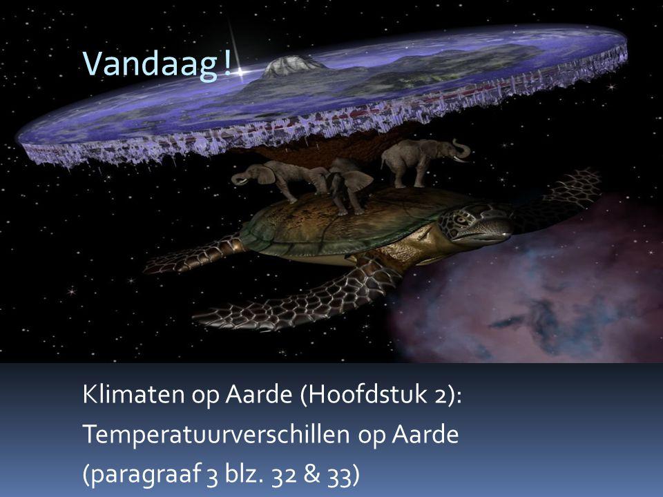 Vandaag. Klimaten op Aarde (Hoofdstuk 2): Temperatuurverschillen op Aarde (paragraaf 3 blz.