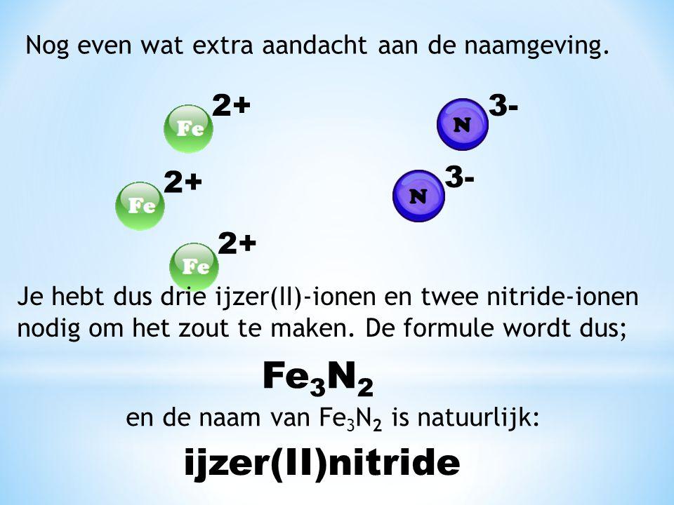 Fe3N2 ijzer(II) nitride 2+ 3- 3- 2+ 2+