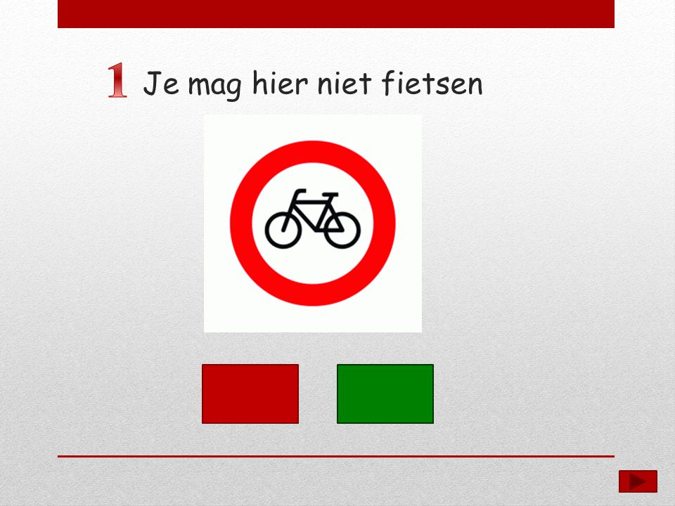 Je mag hier niet fietsen