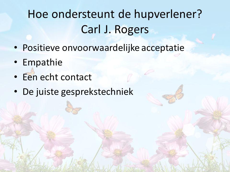 Hoe ondersteunt de hupverlener Carl J. Rogers