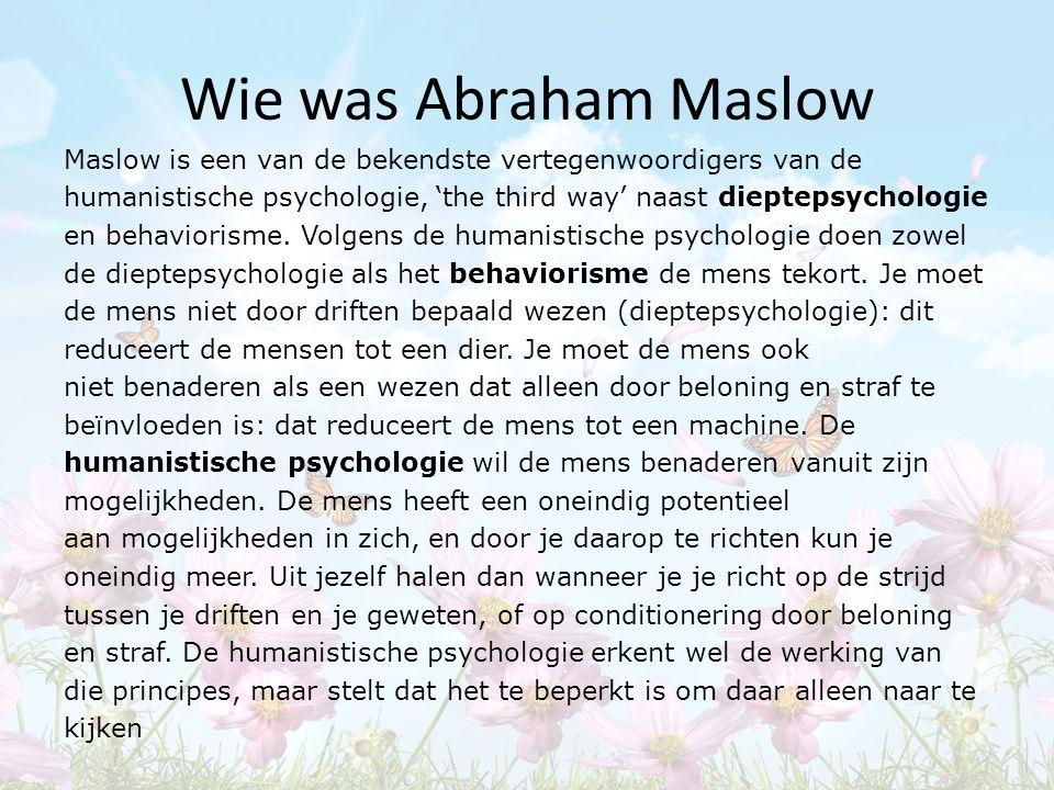 Wie was Abraham Maslow