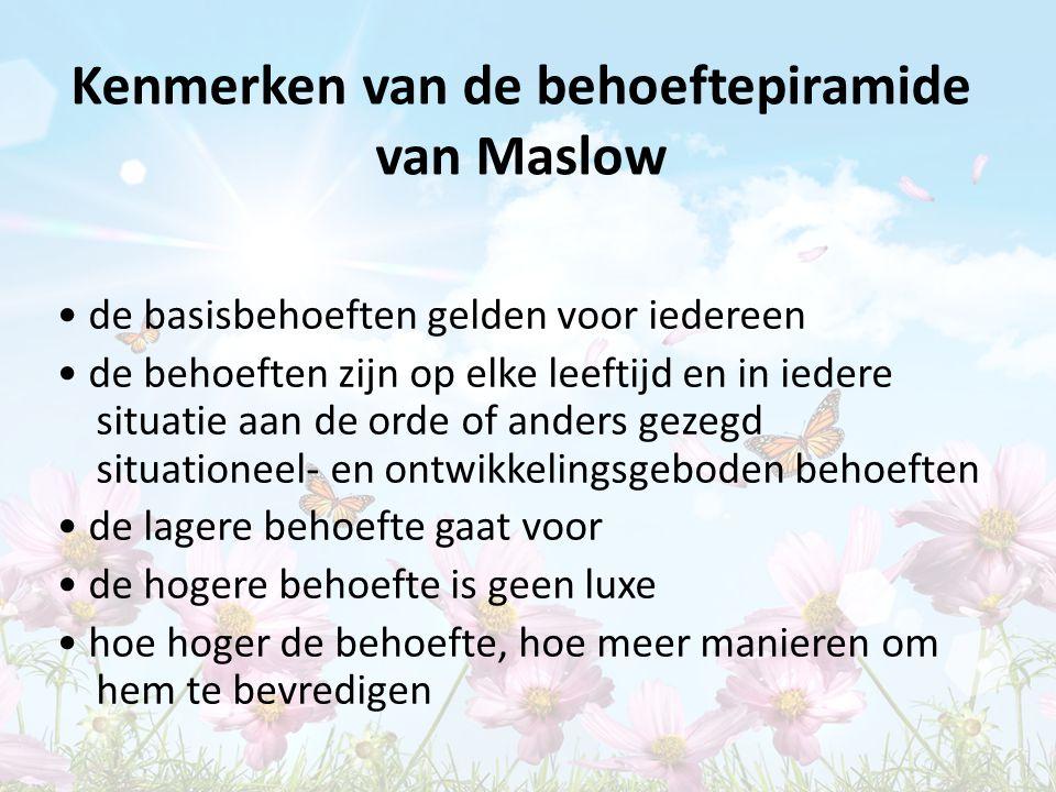 Kenmerken van de behoeftepiramide van Maslow