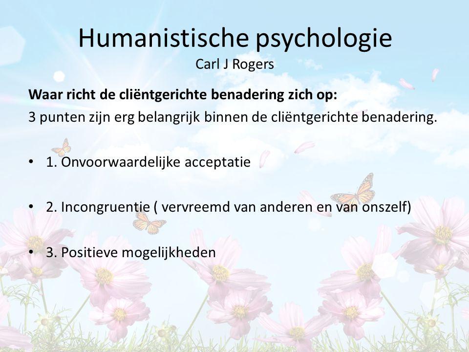 Humanistische psychologie Carl J Rogers