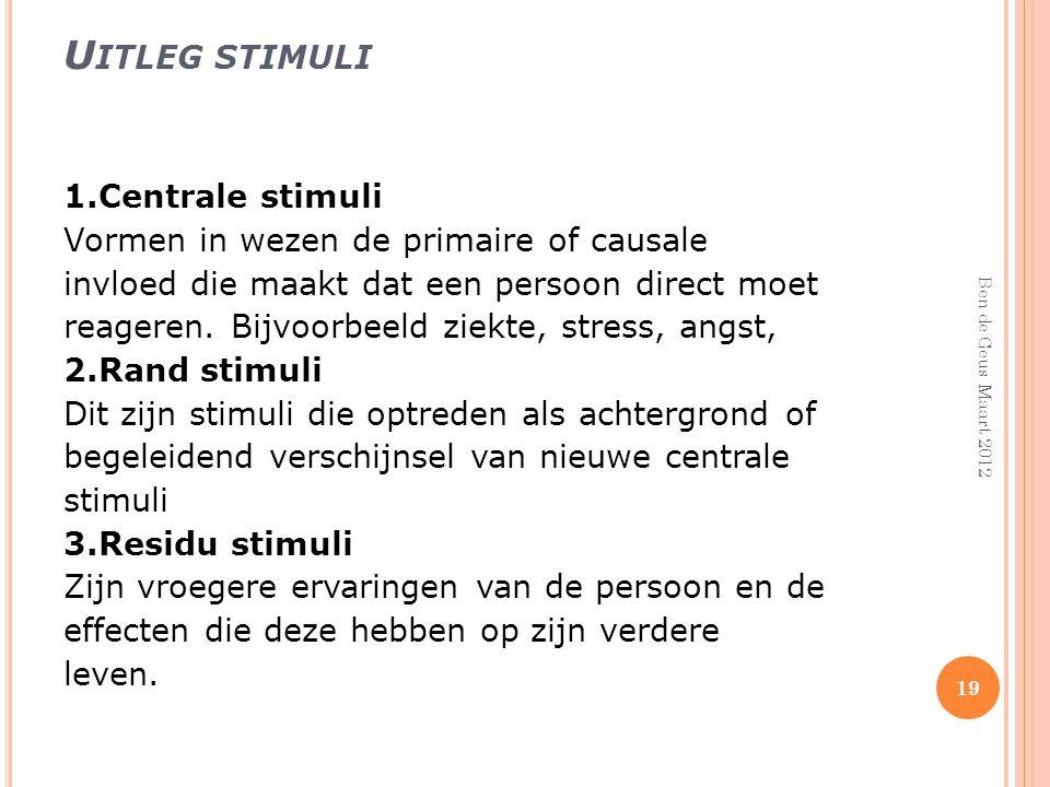 Uitleg stimuli 1.Centrale stimuli