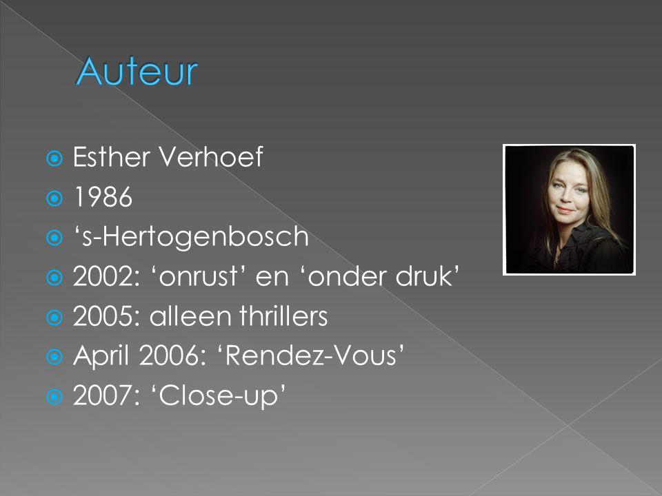 Auteur Esther Verhoef 1986 's-Hertogenbosch