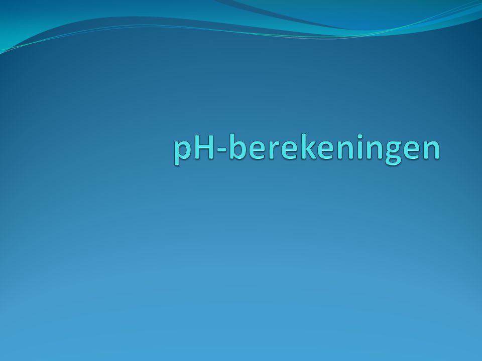 pH-berekeningen
