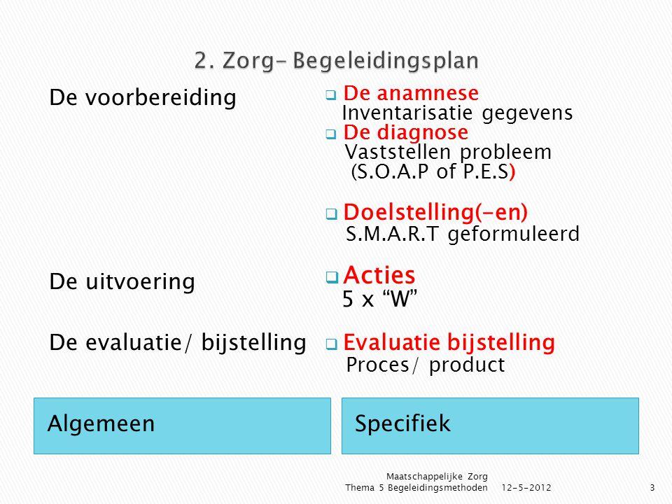 2. Zorg- Begeleidingsplan