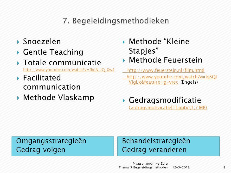7. Begeleidingsmethodieken