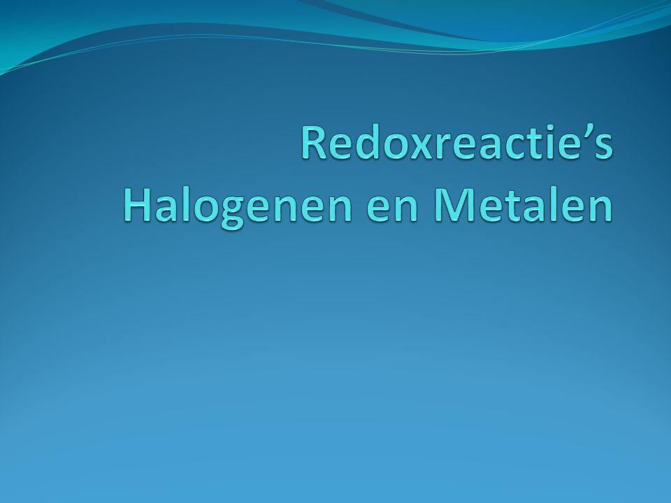 Redoxreactie's Halogenen en Metalen