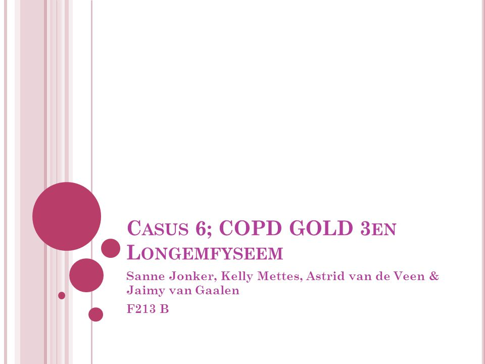 Casus 6; COPD GOLD 3en Longemfyseem