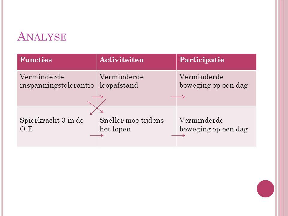Analyse Functies Activiteiten Participatie