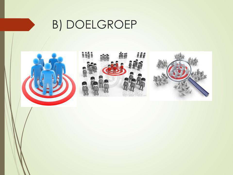 B) DOELGROEP