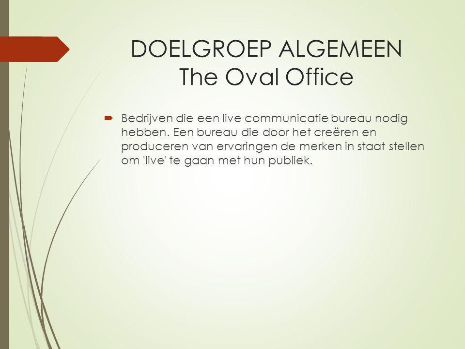 DOELGROEP ALGEMEEN The Oval Office