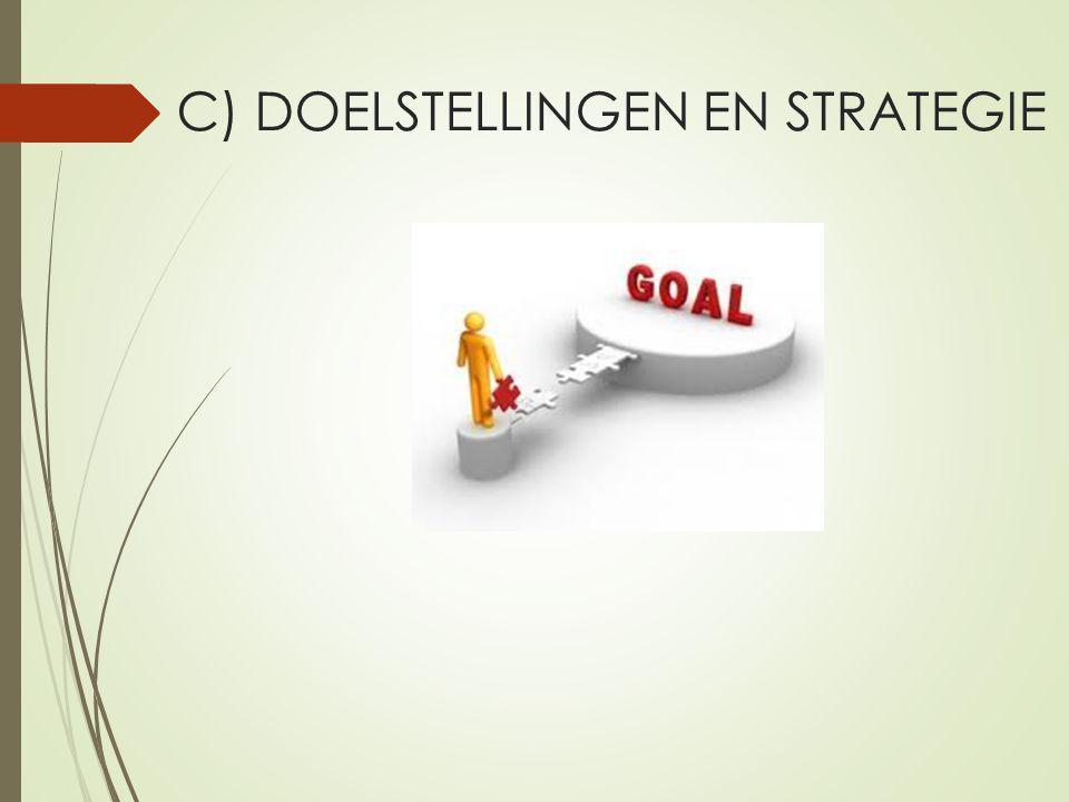 C) DOELSTELLINGEN EN STRATEGIE