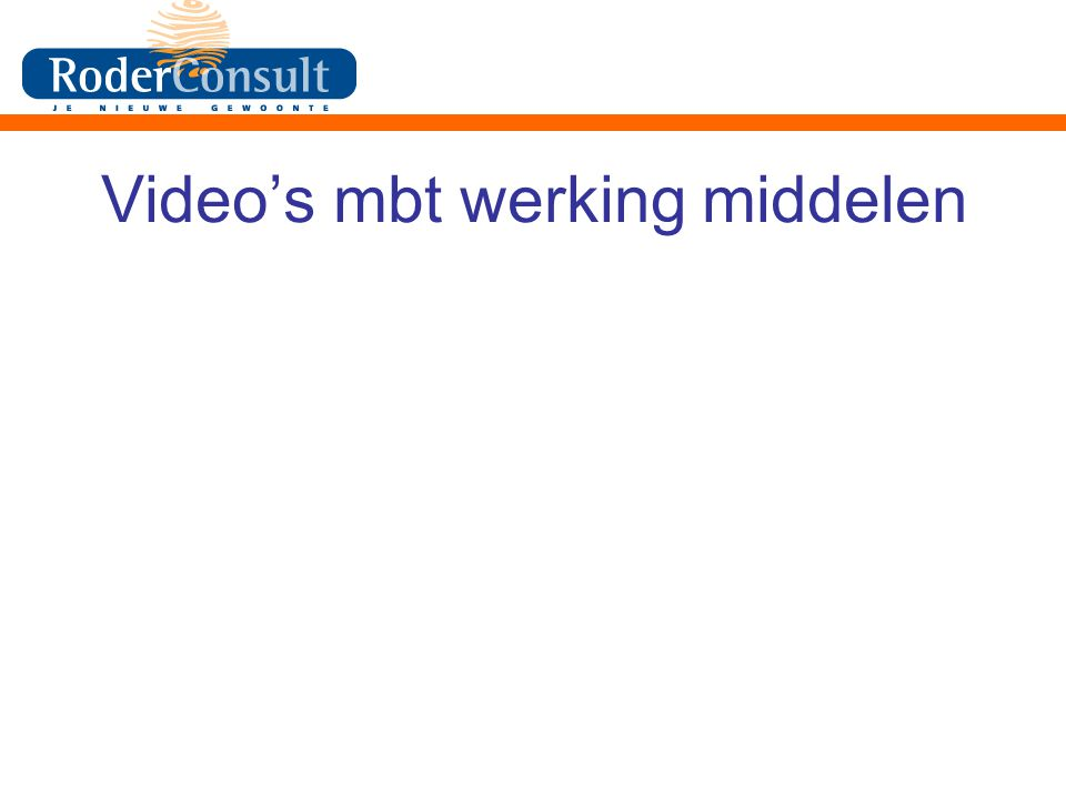 Video's mbt werking middelen