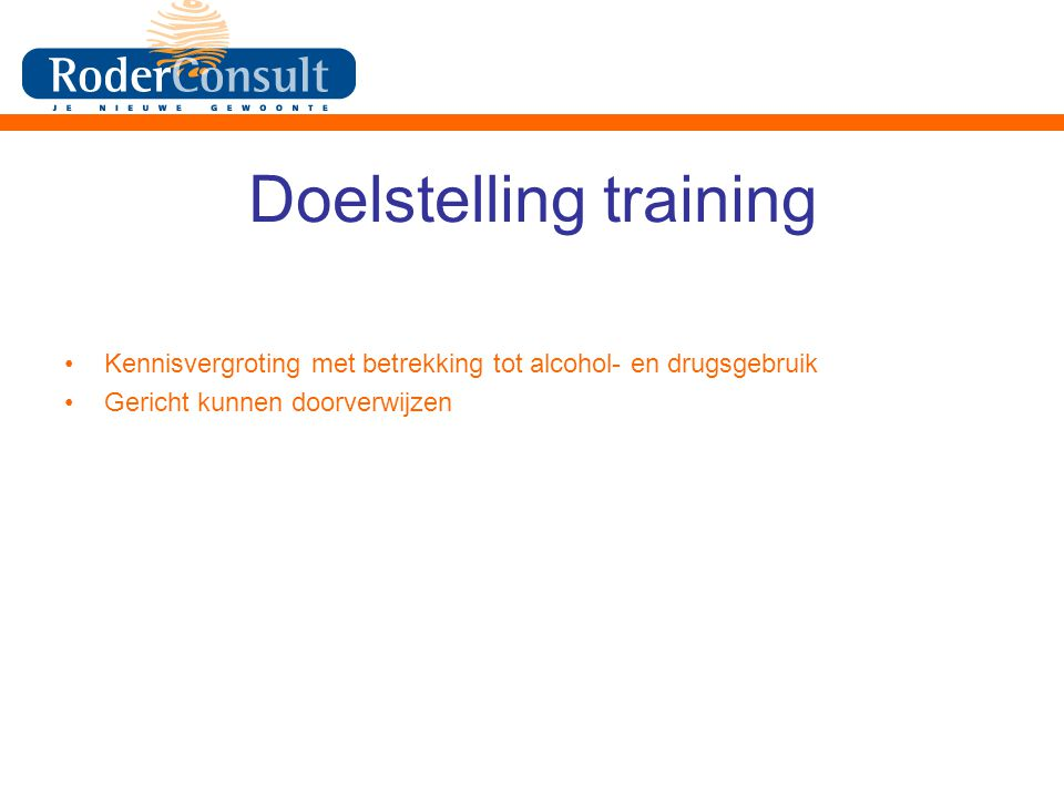 Doelstelling training