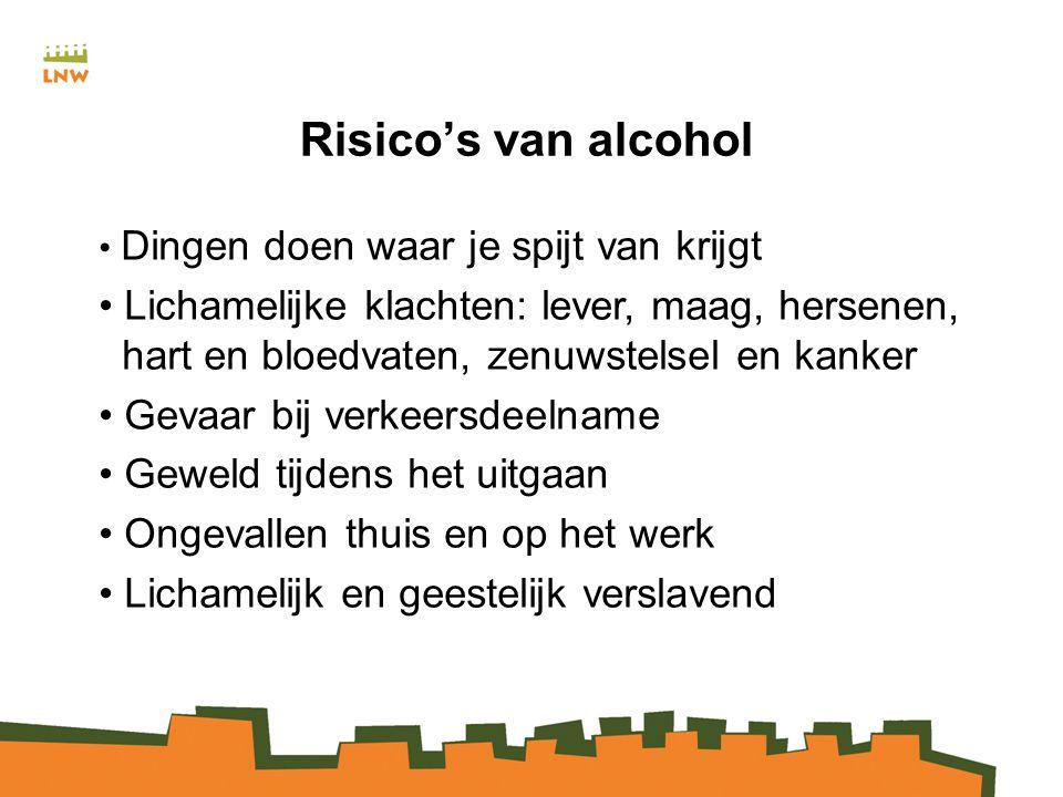 Risico's van alcohol Dingen doen waar je spijt van krijgt.