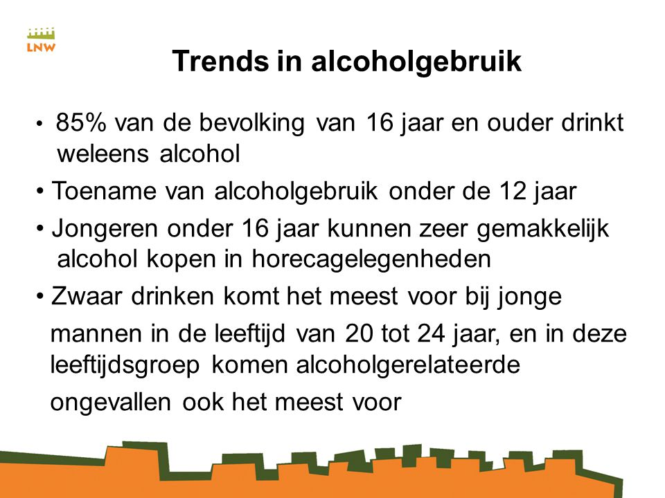 Trends in alcoholgebruik