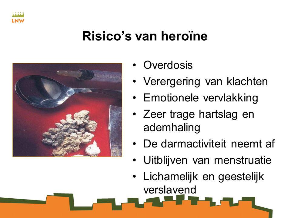 Risico's van heroïne Overdosis Verergering van klachten