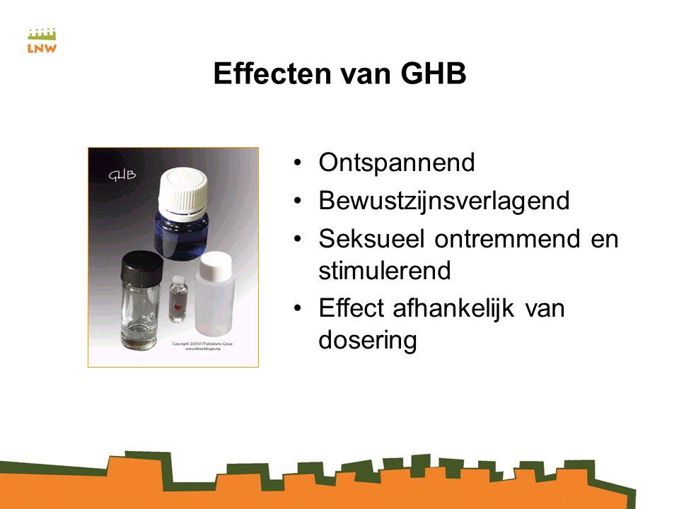 Effecten van GHB Ontspannend Bewustzijnsverlagend