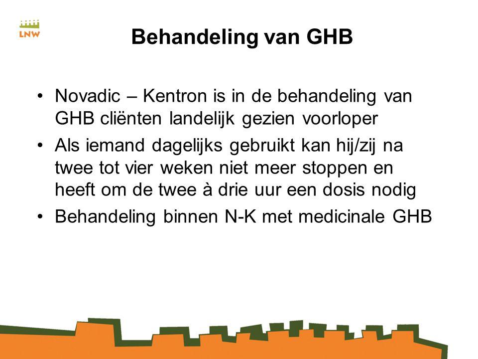 Behandeling van GHB Novadic – Kentron is in de behandeling van GHB cliënten landelijk gezien voorloper.