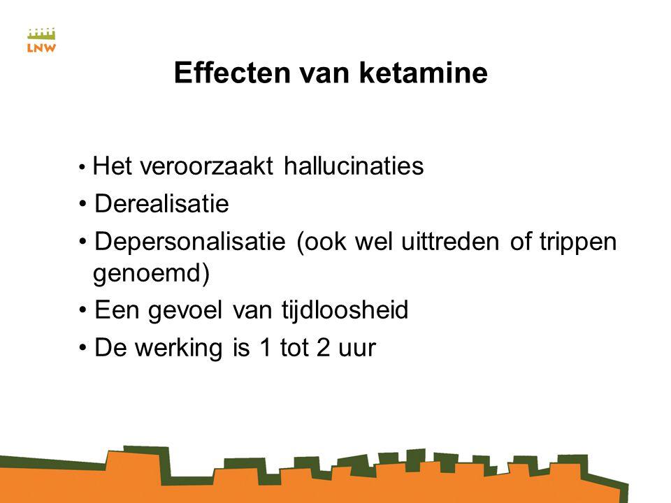 Effecten van ketamine Derealisatie