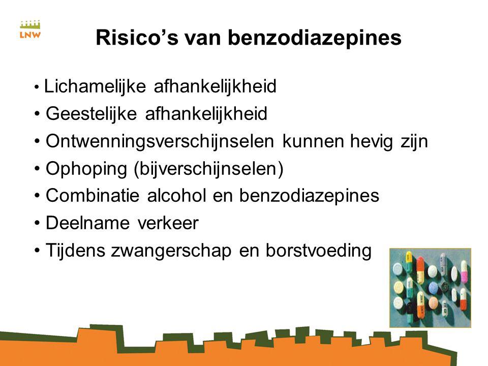 Risico's van benzodiazepines