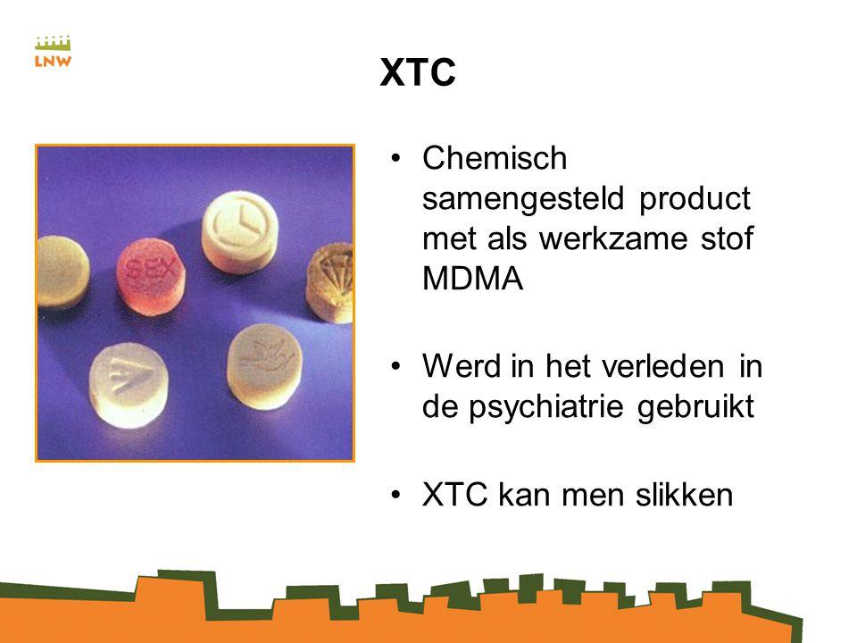 XTC Chemisch samengesteld product met als werkzame stof MDMA