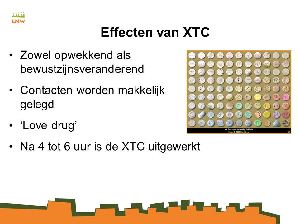Effecten van XTC Zowel opwekkend als bewustzijnsveranderend