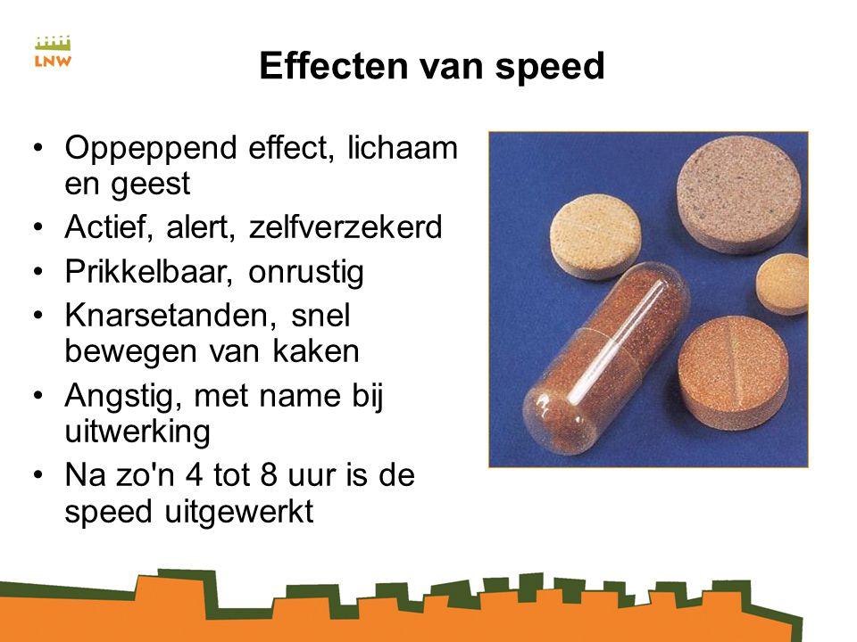 Effecten van speed Oppeppend effect, lichaam en geest