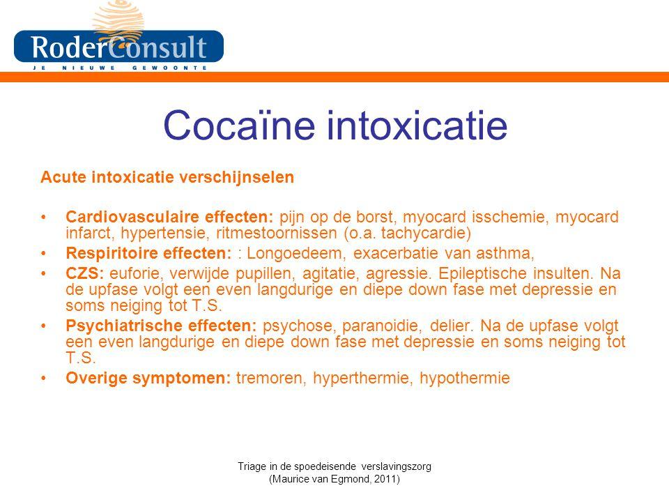 Triage in de spoedeisende verslavingszorg (Maurice van Egmond, 2011)