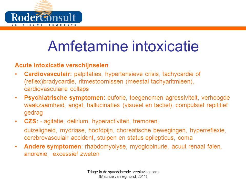 Amfetamine intoxicatie