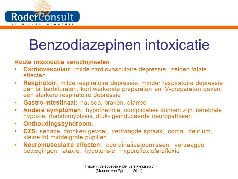 Benzodiazepinen intoxicatie