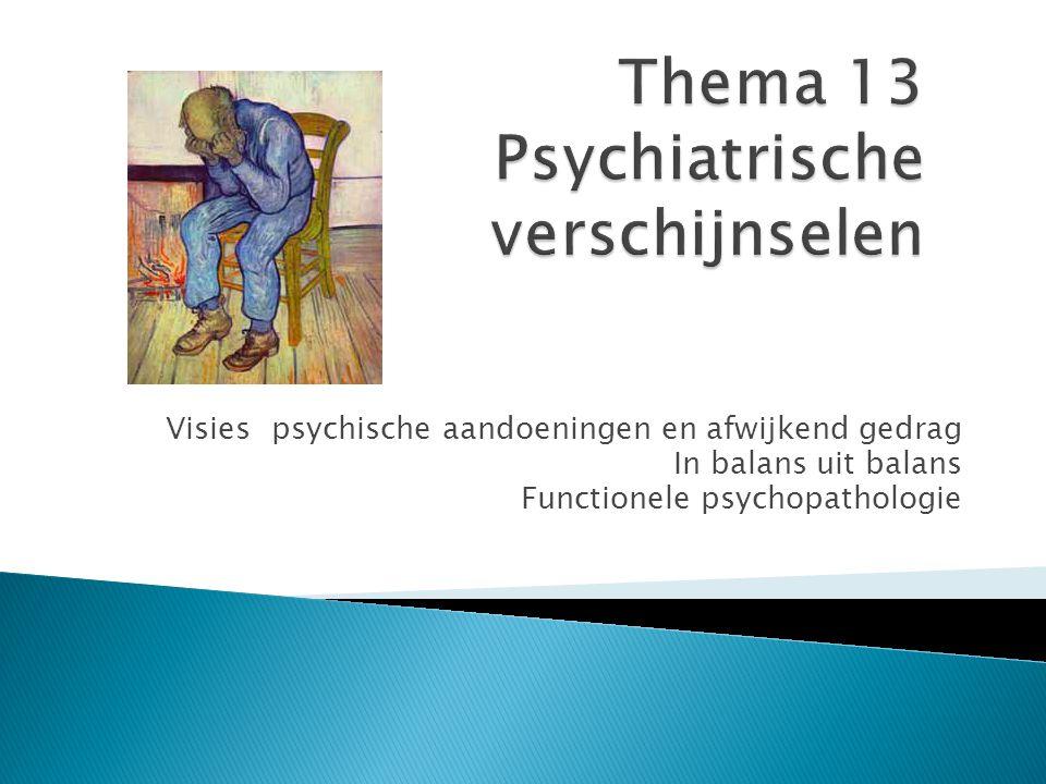 Thema 13 Psychiatrische verschijnselen