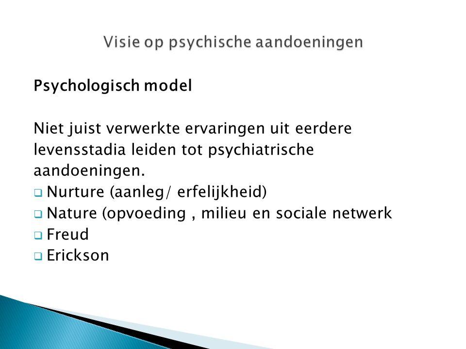 Visie op psychische aandoeningen