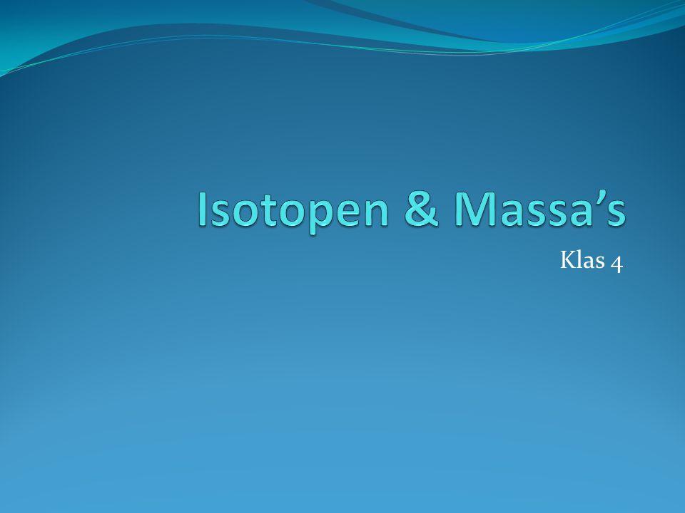 Isotopen & Massa's Klas 4