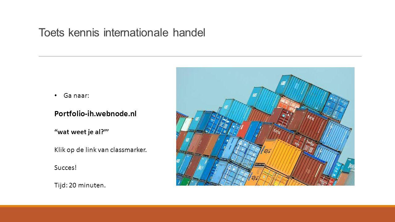 Toets kennis internationale handel