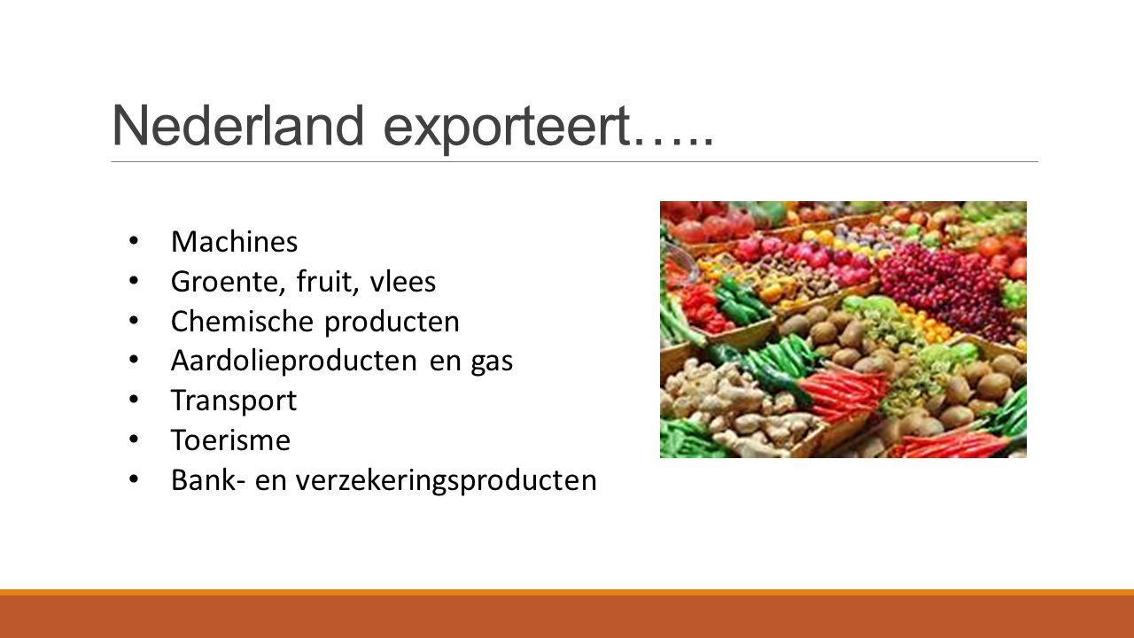 Nederland exporteert…..
