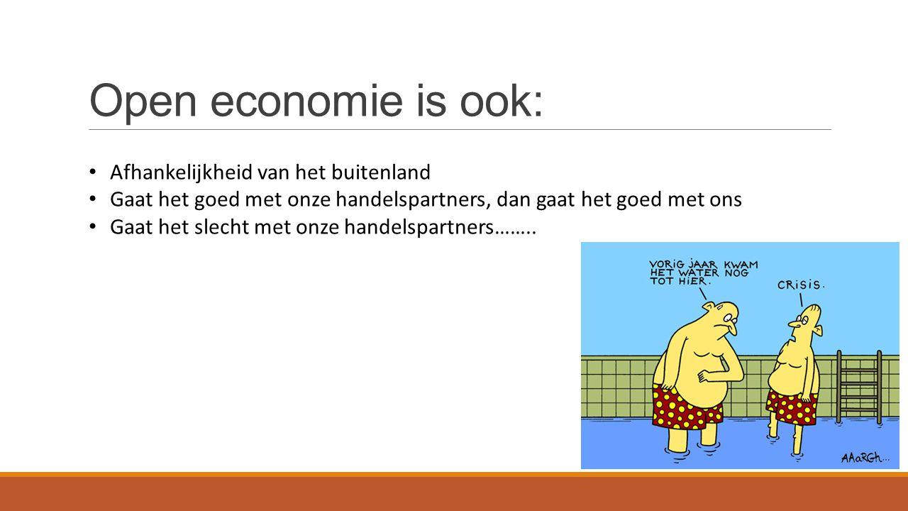 Open economie is ook: Afhankelijkheid van het buitenland