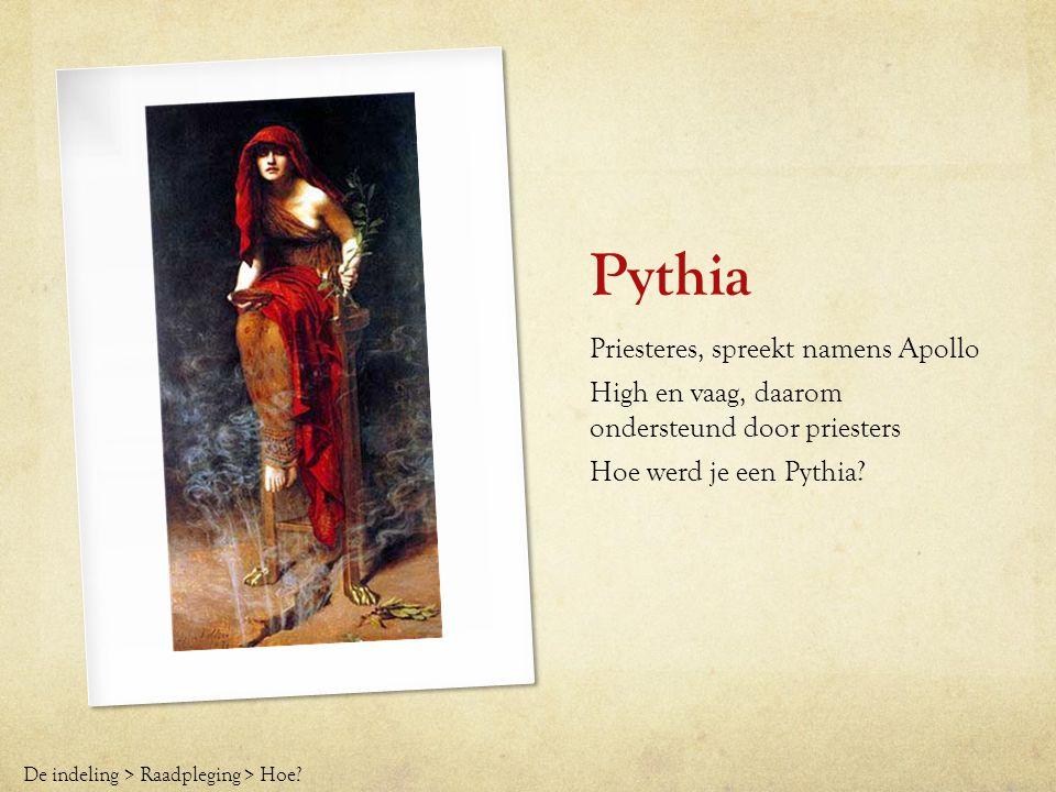 Pythia Priesteres, spreekt namens Apollo