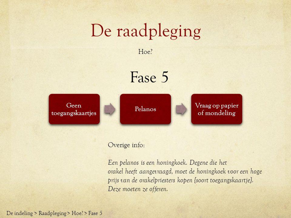 De raadpleging Fase 5 Hoe Overige info: